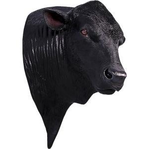 アンガス牛の頭部 FRPアニマルオブジェ|frps