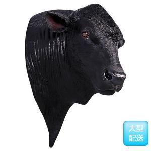 アンガス牛の頭部 FRPアニマルオブジェ|frps|03