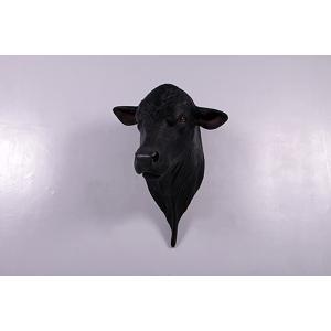 アンガス牛の頭部 FRPアニマルオブジェ|frps|04