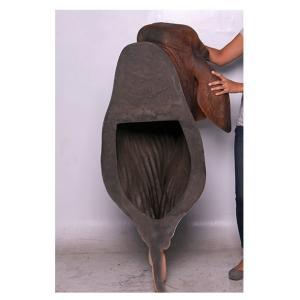 バラモン牛の頭部/壁掛け・ブラウン FRPアニマルオブジェ|frps|05