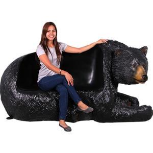 FRPアニマルオブジェ 黒クマのベンチ|frps