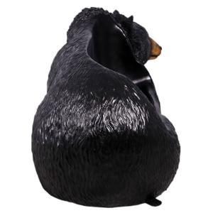 黒クマのベンチ FRPアニマルオブジェ 即納可|frps|04