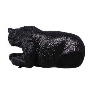 黒クマのベンチ FRPアニマルオブジェ 即納可|frps|05