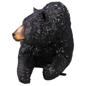 黒クマのベンチ FRPアニマルオブジェ 即納可|frps|06