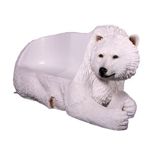 白クマのベンチ FRPアニマルオブジェ|frps|04