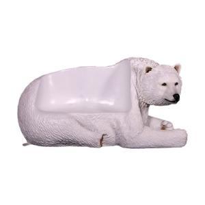 白クマのベンチ FRPアニマルオブジェ|frps|05