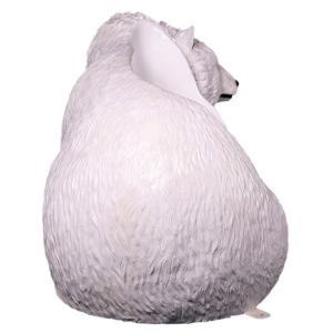 白クマのベンチ FRPアニマルオブジェ|frps|06