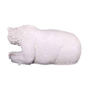白クマのベンチ FRPアニマルオブジェ|frps|07