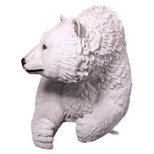 白クマのベンチ FRPアニマルオブジェ|frps|08