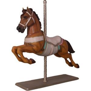 馬のメリーゴーランド FRPアニマルオブジェ frps