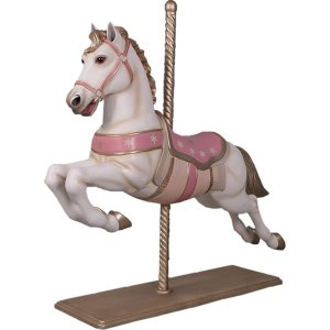白馬のメリーゴーランド FRPアニマルオブジェ frps