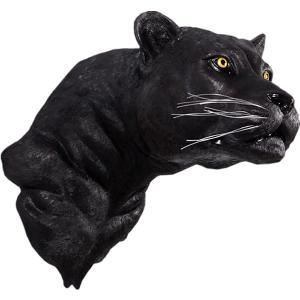 FRPアニマルオブジェ 黒豹の頭部・壁掛け|frps