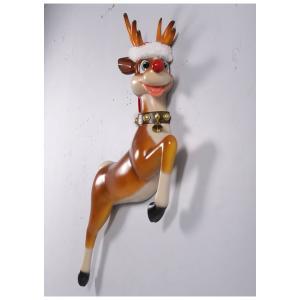 ゆかいな子鹿(壁掛け用)FRPアニマルオブジェ |frps|04