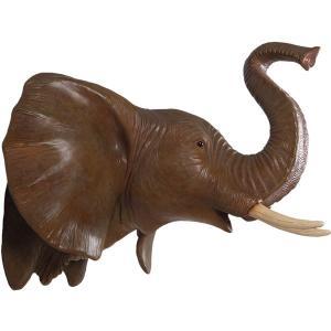 FRPアニマルオブジェ 象の頭部・壁掛け|frps