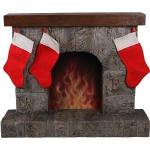 暖炉(靴下ハンガー付き) FRPクリスマスオブジェ|frps