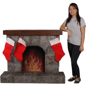 暖炉(靴下ハンガー付き) FRPクリスマスオブジェ|frps|11