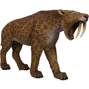 サーベルタイガー FRP恐竜オブジェ|frps