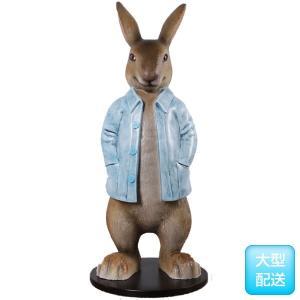 長袖を着たウサギ FRPアニマルオブジェ frps 03