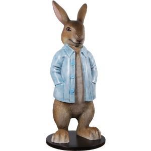 長袖を着たウサギ FRPアニマルオブジェ frps 05