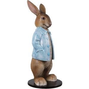 長袖を着たウサギ FRPアニマルオブジェ frps 06