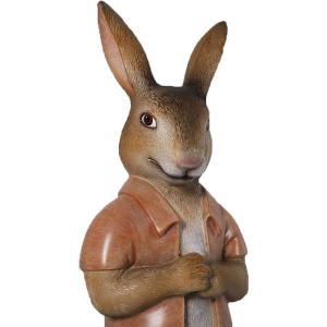 半袖を着たウサギ FRPアニマルオブジェ|frps|03