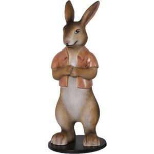 半袖を着たウサギ FRPアニマルオブジェ|frps|05