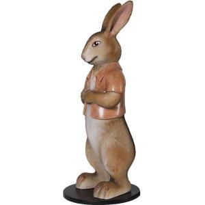 半袖を着たウサギ FRPアニマルオブジェ|frps|07