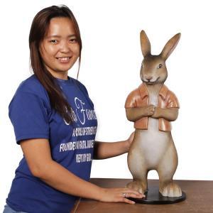 半袖を着たウサギ FRPアニマルオブジェ|frps|08