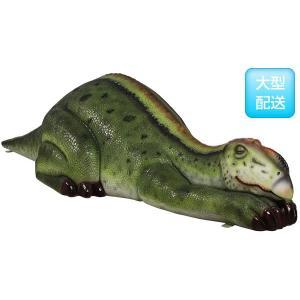 眠るムッタブラサウルス FRP恐竜オブジェ|frps|03