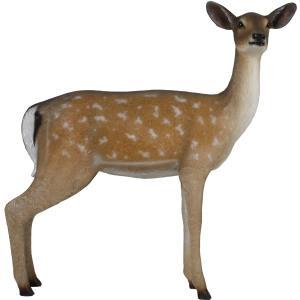 白い尻尾の雌鹿 FRPアニマルオブジェ|frps