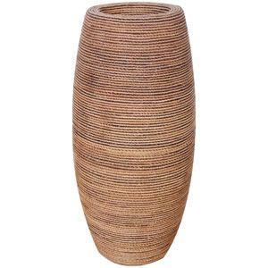 FRPプランター 鼓型プランター(縄編柄) Elonga Planter 47x95cm|frps