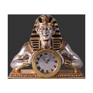 古代エジプト人置き時計 FRPオブジェ 即納可|frps
