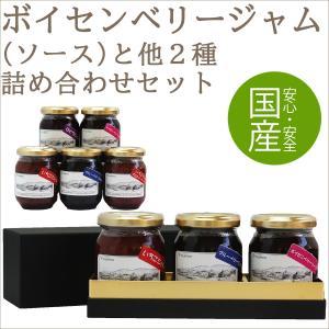 ボイセンベリージャム(ソース)とお好きなフルーツジャム2個の3個セット(各150g) ギフト 朝食 お土産 広島 fruitex