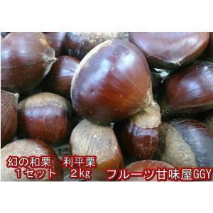利平栗 訳あり 熊本産 1箱2kg 2箱購入で1kgおまけ! 栗 和栗|fruitkanmiya-ggy