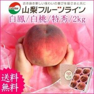 桃 山梨 敬老の日ギフト フルーツ 特産品 甲斐黄金桃 特秀 2kg 送料無料 一部地域を除く|fruits-line