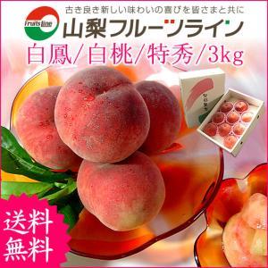 桃 山梨 敬老の日ギフト フルーツ 特産品 甲斐黄金桃 特秀 3kg 送料無料 一部地域を除く|fruits-line