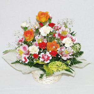 フラワーアレンジメント お誕生日用 メッセージカード付 (AR003_60)|fs-hanatomo