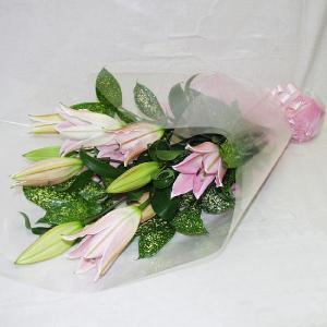 ピンク系 花束 贈答用 メッセージカード付 (HT003_37)|fs-hanatomo