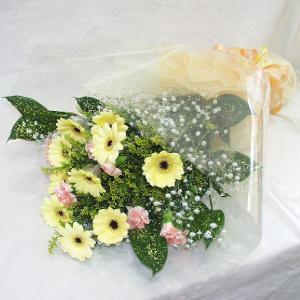 黄色系 花束 贈答用 メッセージカード付 (HT013_38)|fs-hanatomo