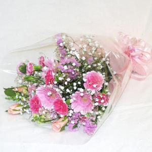 ピンク系 花束 贈答用 メッセージカード付 (HT014_50)|fs-hanatomo