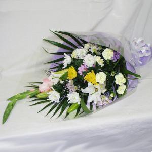 仏事用 花束 メッセージカード付 (HT027_50)|fs-hanatomo