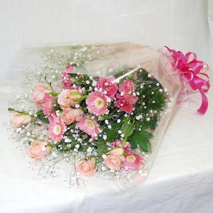 ピンク系 花束 贈答用 メッセージカード付 (HT031_50)|fs-hanatomo