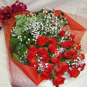 バラの花束(10本) 贈答用 メッセージカード付(HTR01_5000)|fs-hanatomo