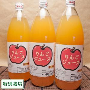 りんご100%ジュース 3本入(1本1000ml) (青森県 阿部農園) 産地直送【お中元対応】|fs21