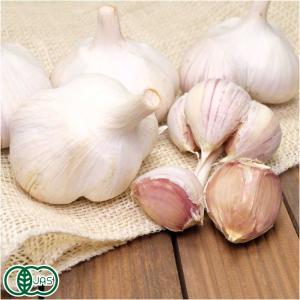 乾燥にんにく サイズ混合 3kg 有機JAS (北海道 はるか農園) 産地直送|fs21
