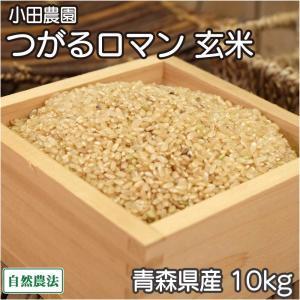 お米 30年度米 つがるロマン 玄米 10kg 無農薬 (青森県 小田農園) 産地直送|fs21