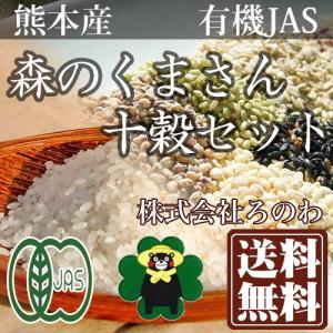 お米 森のくまさん十穀セット 10kg+500g 有機栽培米 オーガニック米 (熊本県 株式会社ろのわ) 産地直送|fs21