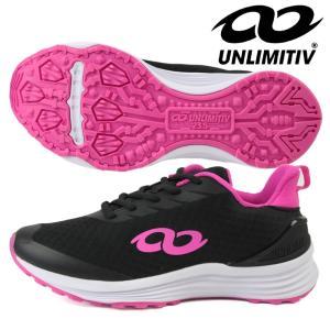 UNLIMITIV アンリミティブ ジュニア レディース スポーツシューズ「UNLIMITIV S-LINE/ブラック×ピンク」2507491 fst