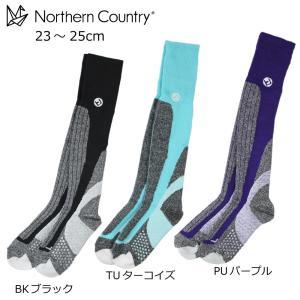【郵便受けへお届け送料無料】Northern Countory ノーザンカントリー スキー スノーボード レディース ロングタイプ サーモソックス 靴下 NA-9500|fst