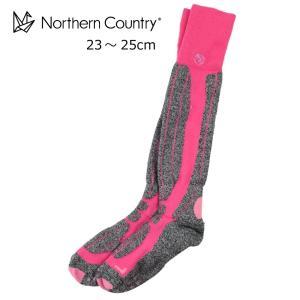 【郵便受けへお届け送料無料】Northern Countory ノーザンカントリー スキー スノーボード レディース ロングタイプ サーモソックス 靴下 NA-951|fst